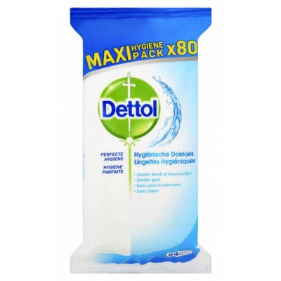 Dettol Multi-Purpose Disinfectant Antibacterial Wipes Maxi Pack 80 st