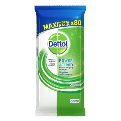 Dettol Power & Fresh Original Multi-reiniging doekjes Maxi Pack 80 st