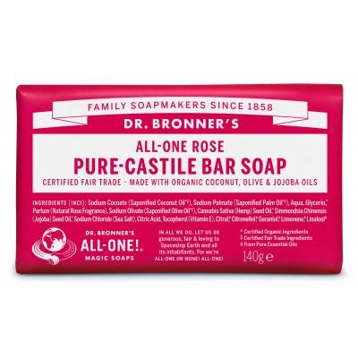 Dr. Bronner's Bar Soap Rose 140 g