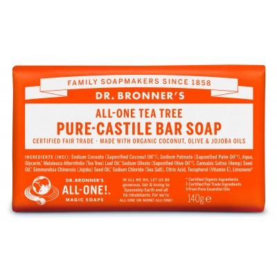 Dr. Bronner's Bar Soap Tea Tree 140 g
