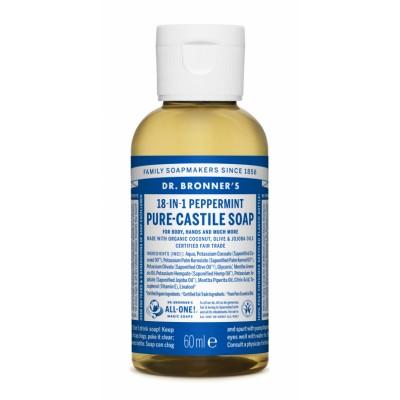 Dr. Bronner's Castile Soap Peppermint 60 ml