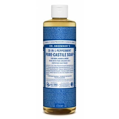 Dr. Bronner's Castile Soap Peppermint 475 ml