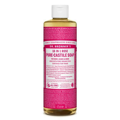 Dr. Bronner's Castile Soap Rose 475 ml