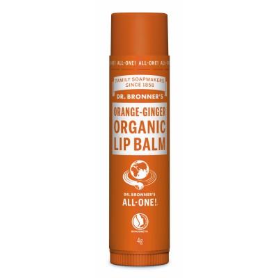 Dr. Bronner's Organic Lip Balm Orange Ginger 4 g