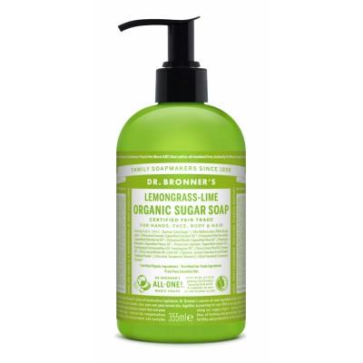 Dr. Bronner's Organic Sugar Soap Lemongrass & Lime 355 ml