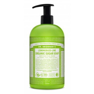 Dr. Bronner's Organic Sugar Soap Lemongrass & Lime 710 ml
