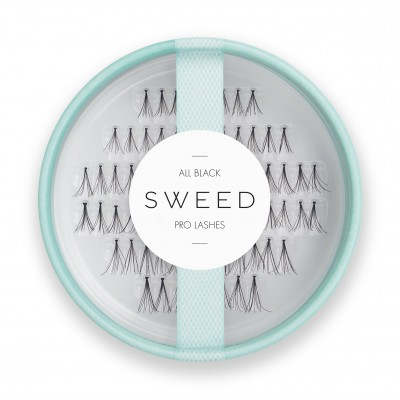 Sweed Lashes Pro Lashes All Black 8 mm + 10 mm + 12 mm