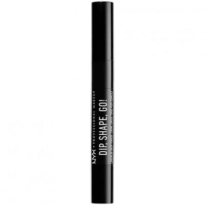 NYX Dip, Shape, Go! Longwear Brow Pomade Black 1,2 g