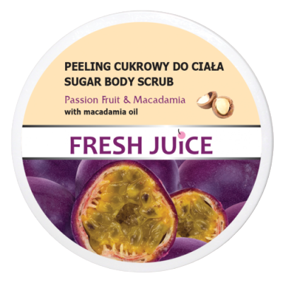 Fresh Juice Sugar Body Scrub Passion Fruit & Macadamia 225 ml