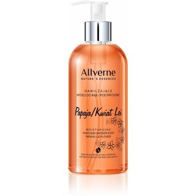 Allvernum Moisturizing Hand & Shower Soap Papaya Lei Flower 300 ml