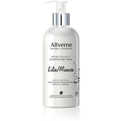 Allvernum Moisturizing Elixir For Hands & Body Water Lily Mimosa 300 ml