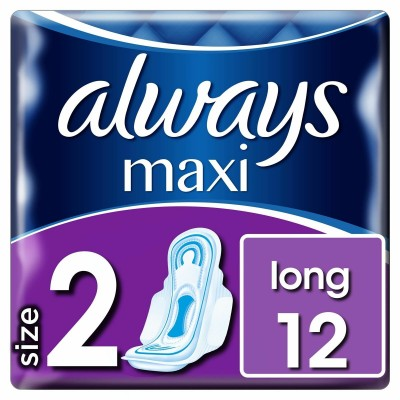 Always Maxi Long With Wings 12 kpl
