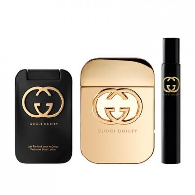 Gucci Guilty EDT & Body Lotion & EDT Rollerball 75 ml + 100 ml + 7,4 ml