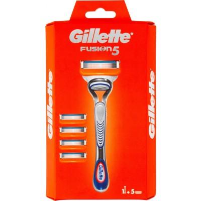 Gillette Fusion 5 Barberhøvel & Barberblad 1 stk + 5 stk