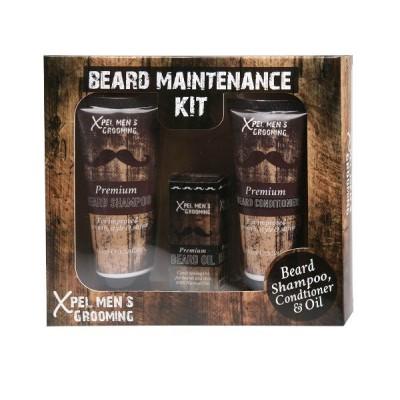 Xpel Men's Grooming Set Beard Maintenance Kit 3 st