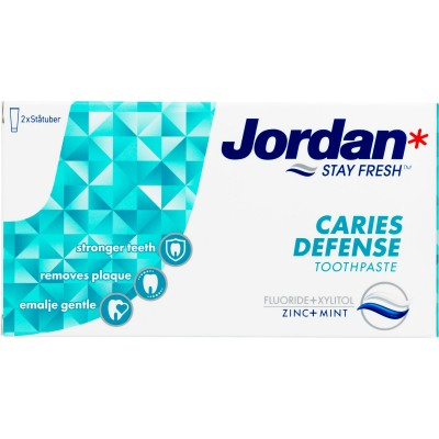 Jordan Stay Fresh Caries Defence Tandpasta 2 x 50 ml