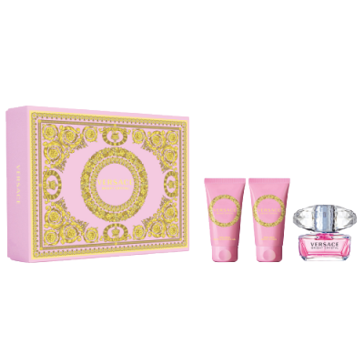 Versace Bright Crystal EDT & Body Lotion & Shower Gel Gift Set 3 x 50 ml