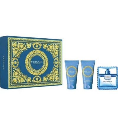 Versace Man Eau Fraiche EDT & Aftershavebalm & Showergel 3 x 50 ml