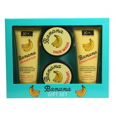 XHC Banana Shampoo & Conditioner & Body Yogurt & Hair Mask Box Set 2 x 100 ml + 2 kpl
