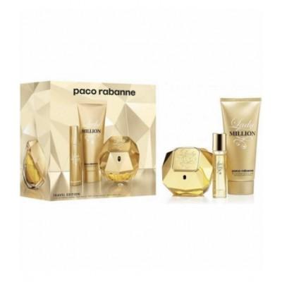 Paco Rabanne Lady Million EDP & Bodylotion & Travel Spray 80 ml + 75 ml + 10 ml