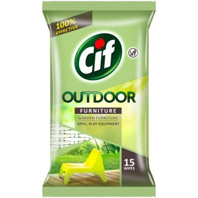 Cif Outdoor Furniture Wipes 15 stk