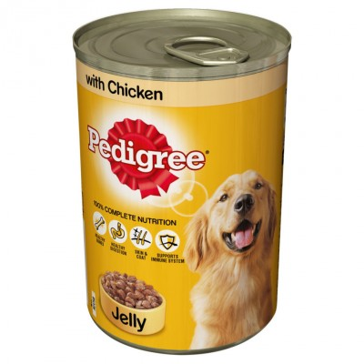 Pedigree Can Jelly Chicken Dog Food 385 g
