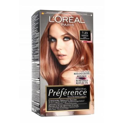 L'Oreal Preference 7.23 Dark Rose Gold 1 st