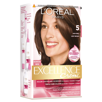 L'Oreal Excellence Creme Hair Color 5 Light Brown 1 st