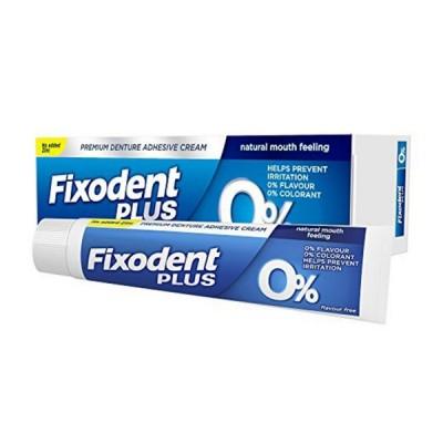 Fixodent Plus 0% Denture Adhesive Cream 40 g