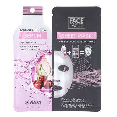Face Facts Serum Sheet Mask Radiance & Glow 25 ml
