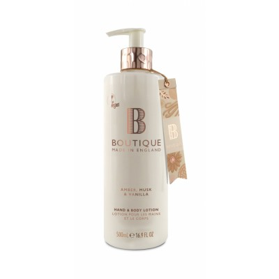 Boutique Amber & Musk & Vanilla Hand & Body Lotion 500 ml