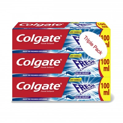 Colgate Fresh Confidence Blue Burst 3 x 100 ml