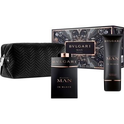 Bvlgari Man In Black EDP & After Shave Balm & Toiletry Bag 2 x 100 ml + 1 kpl