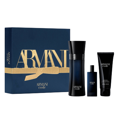 Giorgio Armani Code Homme EDT & Mini EDT & Showergel 2 x 75 ml + 15 ml