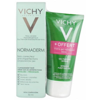 Vichy Normaderm Correcting Anti Blemish Care & Intensive Purifying Gel 2 x 50 ml