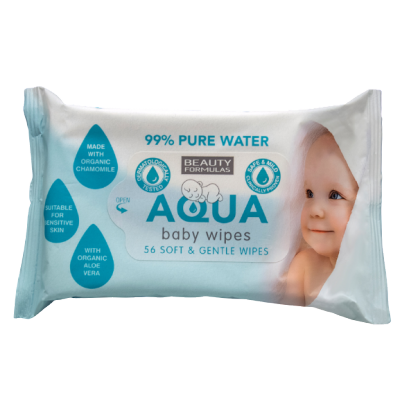 Beauty Formulas Baby Aqua Wipes 56 st