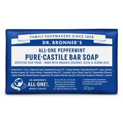 Dr. Bronner's Bar Soap Peppermint 140 g