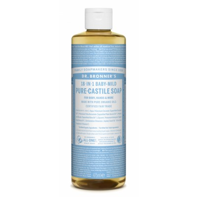 Dr. Bronner's Castile Soap Baby Mild Neutral 475 ml