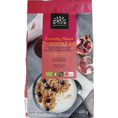 Urtekram Crunchy Muesli Granatæble & Spelt 450 g