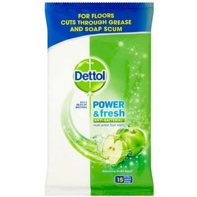Dettol Clean & Fresh Multipurpose Wipes Refreshing Green Apple 15 pcs
