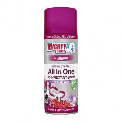 Mighty Burst All In One desinfiointisuihke Sparkling Berry 450 ml