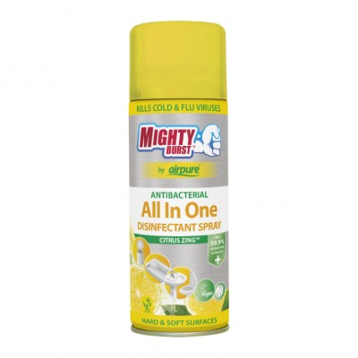 Mighty Burst All In One desinfiointisuihke Lovely Lemons 450 ml