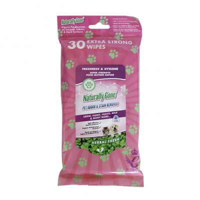 Airpure Naturally Gone Pet Odour & Stain Remover Wipes 30 st