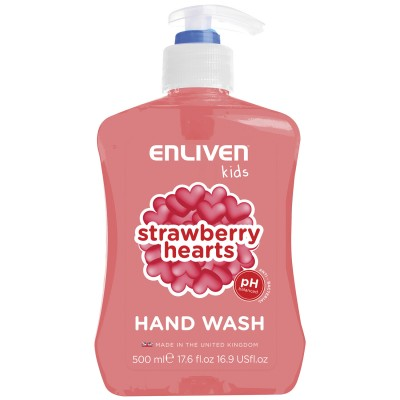 Enliven Kids Anti-Bacterial Handwash Strawberry Hearts 500 ml
