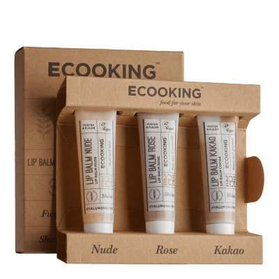 Ecooking Nude & Rose & Cocoa Lip Balm Set 3 x 15 ml