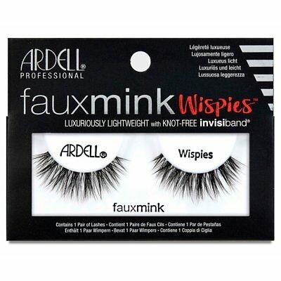 Ardell Faux Mink Wispies False Eyelashes Black 1 par