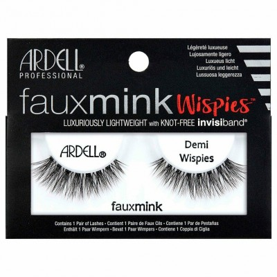 Ardell Faux Mink Demi Wispies False Eyelashes Black 1 par
