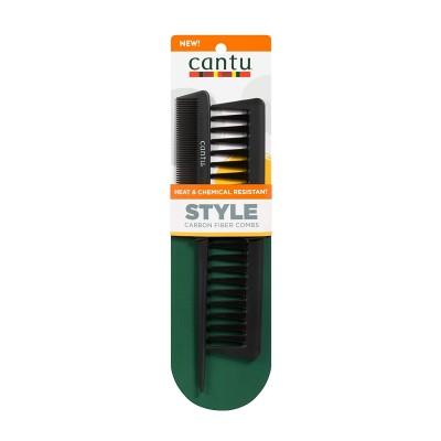 Cantu Carbon Heat Resistant Combs 2 st