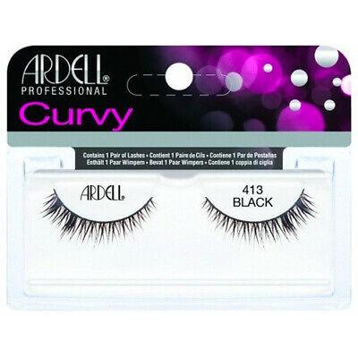 Ardell Curvy False Eyelahes Black 413 1 par