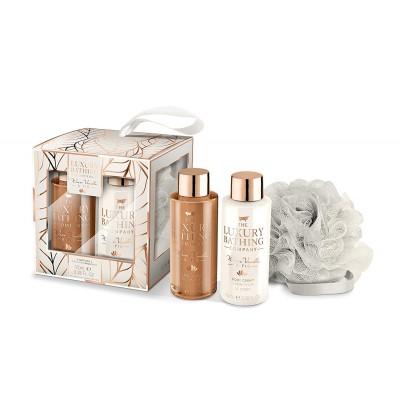 The Luxury Bathing Company Warm Vanilla & Fig Retreat Gift Set 2 x 100 ml + 1 st